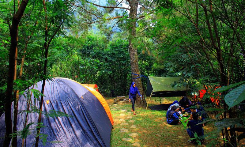 campsite camping keluarga di puncak