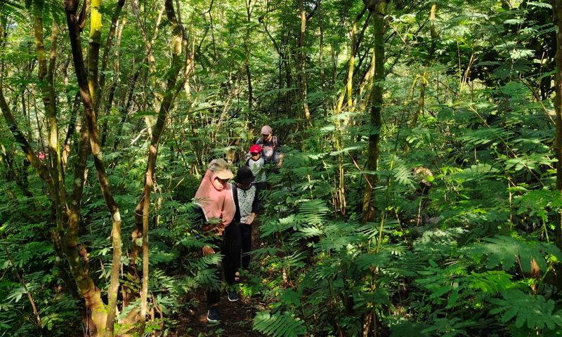 family trekking puncak bogor