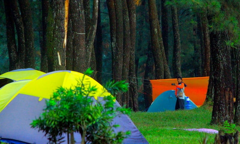 camping ground curug ciputri