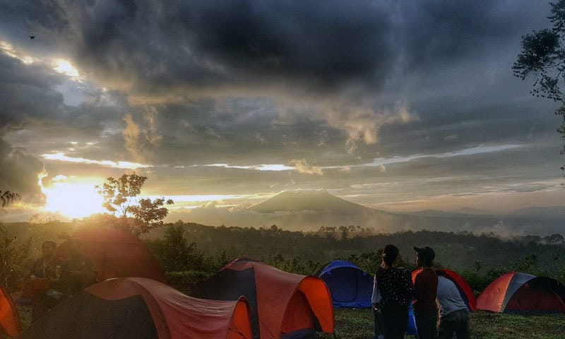 view gayatri adventure camp puncak